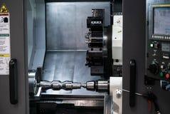 CNC转动的中心 库存图片