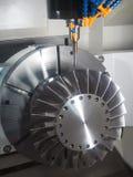 CNC κεντρική τέμνουσα φόρμα κατεργασίας Στοκ εικόνα με δικαίωμα ελεύθερης χρήσης
