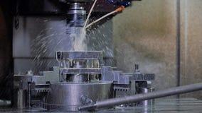 CNC μηχανή άλεσης ή διατρήσεων απόθεμα βίντεο