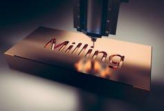 CNC μηχανή άλεσης στοκ εικόνα
