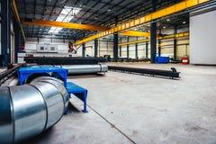 CNC μηχανή κοπτών λέιζερ πλάσματος Στοκ Εικόνες