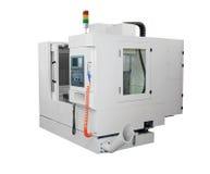 CNC μηχανή τόρνου Στοκ φωτογραφία με δικαίωμα ελεύθερης χρήσης