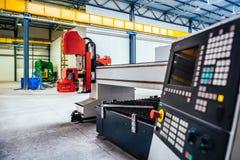 CNC πίνακας ελέγχου κοπτών λέιζερ πλάσματος Στοκ Εικόνες