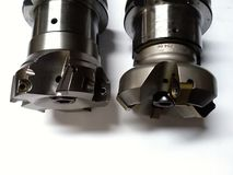 CNC που επεξεργάζεται τα εργαλεία SK40 στη μηχανή στοκ εικόνα με δικαίωμα ελεύθερης χρήσης