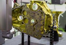 CNC CMM测量的引擎 库存照片