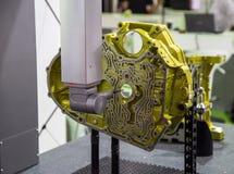CNC CMM测量的引擎 免版税库存照片