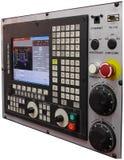 CNC control panel. Isolated on white background stock photo