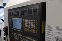 CNC control panel. Huge new CNC control panel royalty free stock photo