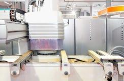 CNC de madeira do trabalho imagem de stock