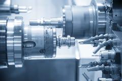 Cnc-Drehbankmaschine Drehmaschine stockfoto