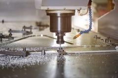 Cnc drilling machine. Metalworking machinery close up Stock Photography
