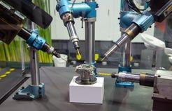 CNC drilling machine stock image