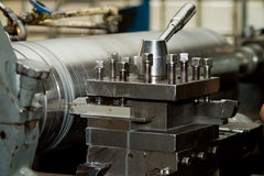 CNC drilling and milling machine. In a workshop Stock Photos