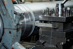 CNC drilling and milling machine Royalty Free Stock Photos