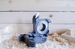CNC Finger Joint Cutter For Woodworking Industriy Royalty Free Stock Photos