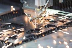 CNC gas cutting metal sheet Stock Photos