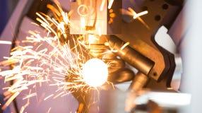 CNC gas cutting metal sheet Stock Images