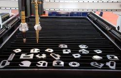 CNC gas plasma cutting machine. Industrial metalwork royalty free stock images