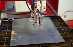 CNC gas plasma cutting machine. Industrial metalwork stock images