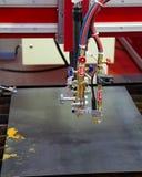 CNC gazu osocza tnąca maszyna obraz royalty free