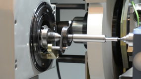 CNC grinding machine. Grinding of cylindrical parts. stock video footage