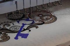 Cnc haftuje maszynę zdjęcie royalty free