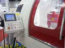 CNC het controlebord van Machineopertion closup Royalty-vrije Stock Foto's