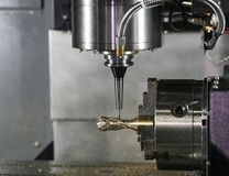 CNC het machinaal bewerken centrum scherpe vorm Royalty-vrije Stock Foto