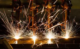 CNC het snijden van LPG Stock Fotografie