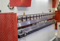 CNC hydraulische persrem royalty-vrije stock foto's
