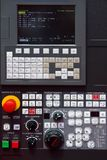 cnc-kontroll Arkivfoton