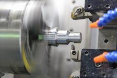 CNC kręcenia tokarska maszynowa maszyna fotografia stock