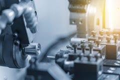 CNC kręcenia tokarski maszynowy maszynowy rozcięcie metal część Zdjęcia Stock