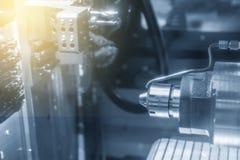 CNC kręcenia tokarski maszynowy maszynowy rozcięcie metal część Obrazy Stock