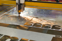The CNC laser cut machine Royalty Free Stock Photo