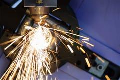The CNC laser cut machine Stock Image