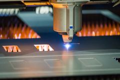 Free CNC Laser Cutter Royalty Free Stock Images - 133591429