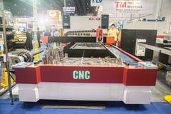 CNC laser cutting. BANGKOK ,THAILAND - MAY 16: CNC laser cutting machines Royalty Free Stock Photos