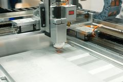 CNC laser cutting machine. stock photo