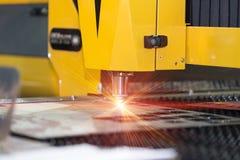 CNC laser cutting metal sheet Stock Images