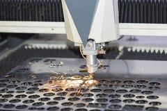 CNC laser cutting metal sheet Royalty Free Stock Image