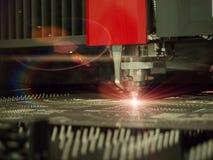 CNC laser cutting metal sheet Stock Photography