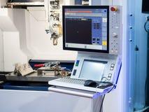 CNC laser cutting metal sheet Royalty Free Stock Photos