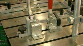 Cnc lassenmachine stock footage