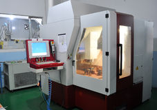 CNC lathe. CNC machine tools in the workshop of china Stock Photography