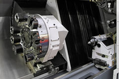 CNC lathe Stock Photo
