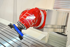 CNC-lathe. Photo of an CNC lathe royalty free stock photos