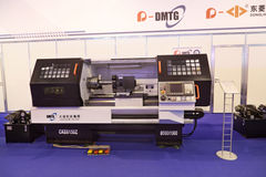 CNC lathe. ZHUKOVSKY, RUSSIA - JUN 29: The international salon of arms and military technology Engineering technologies 2012 on Jun 29, 2012 in Zhukovsky. CNC royalty free stock images
