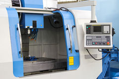 Cnc lathe. Automatic cnc lathe machine line Stock Images