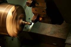 CNC lathe machine Stock Photography